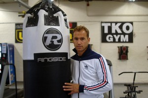Trainer Tibbs at the TKO gym