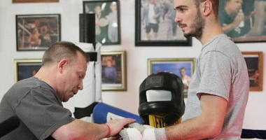 Trainer Jack Loew (l) with pupil and former WBO/WBC middleweight champion Kelly Pavlik; a working relationsip that spanned 20 years. Photo: Joe Maxse