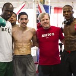 Lateef Kayode, Peter Quillin, Freddie Roach & Leo Santa Cruz Photo